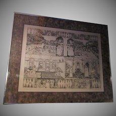 Adrienne Anderson Artist Proof Print Backgammon Gallery Framed Fine Art