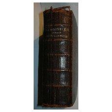 Nouveau Paroissien Romain Tres Complet Antique French & Latin Priest's Prayer Book Leather 1888