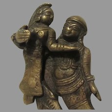 Fine Old Betel Nut Cutter India Asian Kissing Couple