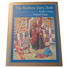 Rainbow Fairy Book Michael Hague With Original Pencil Drawing Unicorn