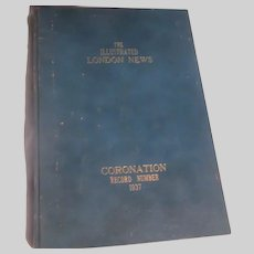 Illustrated London News Coronation 1937 Hardback Book British Royalty