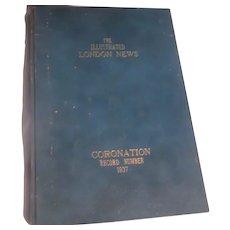 Illustrated London News Coronation 1937 Hardback Book British Royalty