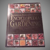 American Horticultural Society Encyclopedia of Gardening Large Book
