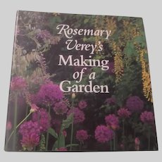 Rosemary Verey's Making of a Garden Gardening Book