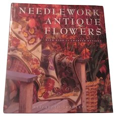 Needlework Antique Flowers With Charted Designs Book