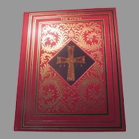 The Popes Treasures of the World Book Red Silk  Cover
