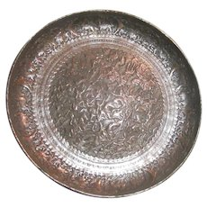 Fine Old Asian Middle Eastern Tray Bowl Polo Horsemen