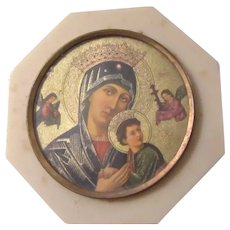 Virgin Mary Our Lady Perpetual Help Tiny Standing Icon Art