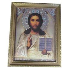 Jesus Art Print Orthodox Icon Framed