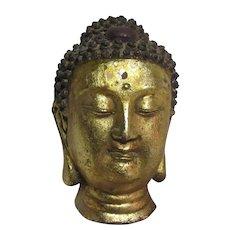 Buddha Head Statue Figurine Metal