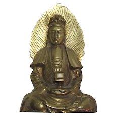 Fine Hong Kong Brass Statue Buddha Quan Yin