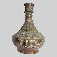 Antique Copper Large Middle Eastern Vase