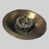 Middle Eastern  Brass Magic Bowl Islamic Calligraphy
