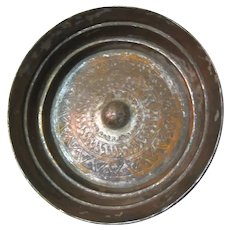 Very Old Syria Middle Eastern Magic Bowl Tinned Copper