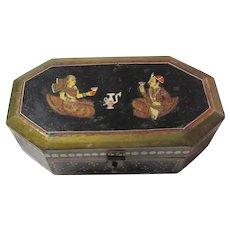 India Hand Painted Wood Trinket Mala Box