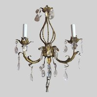 Gold Gilt Florentine Wall Sconce Electric