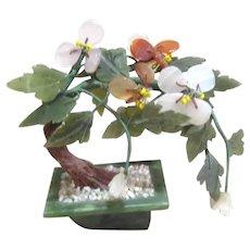 Miniature Jade Hardstone Tree