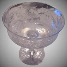 Set 5 Crystal Glass Sherbets or Champagnes Fine Dining Stemware