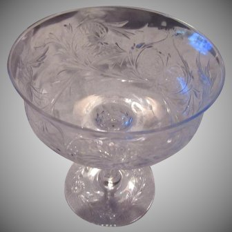 Set 5 Crystal Glass Sherbets or Champagnes Fine Dining Stemware