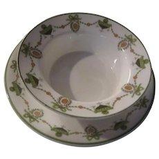 Tiffany Royal Gustafsberg Crab Bowl Saucers