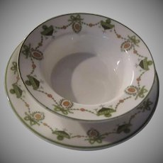 Tiffany Royal Gustafsberg Crab Bowl Saucers