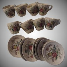 Spode Copeland Gainsborough Demitasse Cup Saucer Set 8