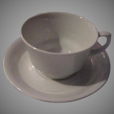 Arabia of Finland White Cups Saucers Set 10