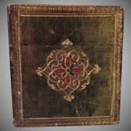 Italian Florentine Playing Card Box Gold Gilt Hand Painted