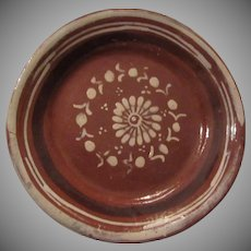 Old Mexico Terracotta Pottery Plate Hand Painted