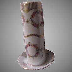 Signed  Porcelain Hatpin Holder
