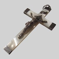 Mother of Pearl Crucifix Dated 1886