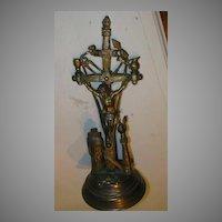 Standing Altar Crucifix  Skull Crossbones Hen Wheat Catholic Christianity Sacramental Cross