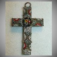Old Mosaic & Micromosaic Religious Cross