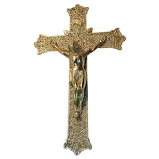 Lovely Large  Metal Crucifix Cross  USA