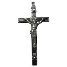 Large Old Nuns Priests Crucifix Skull Crossbones