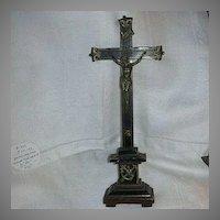 Antique Table Crucifix