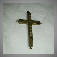 Old Large Reliquary Crucifix Cross