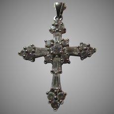 CZ or Glass Stones Cross Pendant