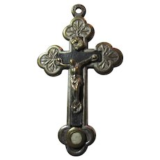 Very Old Small Crucifix Rome Catacomb Relic