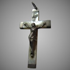 Old MOP Mother of Pearl Crucifix