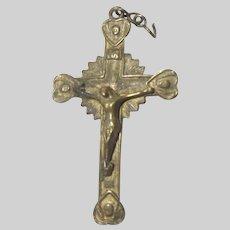 Small Brass Tone Crucifix