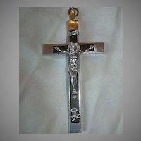Large Nuns Priests Crucifix Wood & Metal