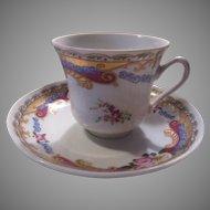 Limoges Porcelain Demitasse Cup Saucer Fancy dining