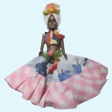 Hard Plastic Doll In Calypso Costume