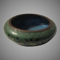 Tiny Chinese Cloisonne Enamel Bowl