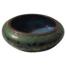 Tiny Chinese Cloisonne Enamel Bowl