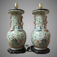 Pair Lamps  True Pair Fine Asian Vases