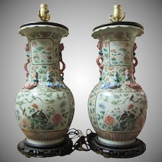 Pair Lamps From Chinese True Pair Fine Vases