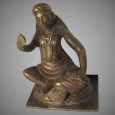 Bronze Small Statue Figurine Asian Middle Eastern Man
