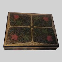 Papier Mache Lacquer Box Suffering Moses Hand Painted Kashmir India